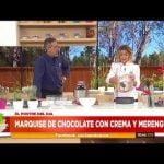 A pedido de Fede Bal, Maru te cuenta cómo hacer un delicioso marquise de chocolate Mi receta de cocina