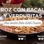 Arroz con bacalao y verduras - Recetas Solís