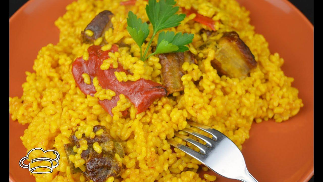 Arroz con costillas de cerdo, arroz rápido y fácil