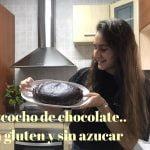 Bizcocho de chocolate y almendras, sin gluten y sin azúcar  Mi receta de cocina