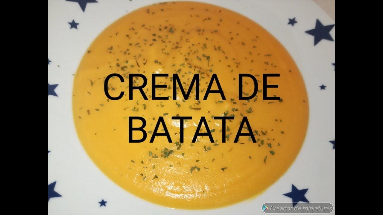 CREMA DE BATATA RECETA SALUDABLE