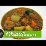 Cómelo |  Lentejas con albóndigas ibéricas  Mi receta de cocina