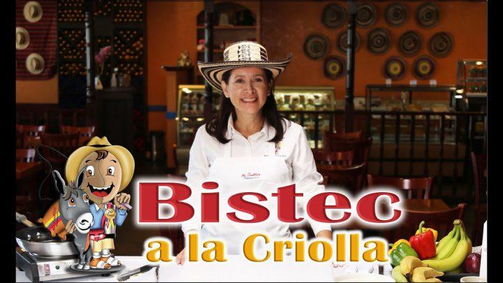 Como hacer un Bistec a la Criolla receta de la cocina Colombiana.