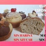 Cupcakes Saludables y Esponjosos! SIN GLUTEN, SIN AZÚCAR, SIN MANTECA, SIN ACEITE, SIN HARINA!!  Mi receta de cocina
