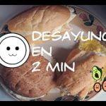 Desayuno en microondas | Pan integral con palta y huevo