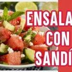 Ensalada con fruta - Receta de ensalada con sandía