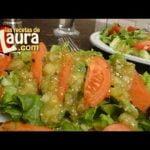 Ensalada de lechuga con tomate asado - Recetas para bajar de peso