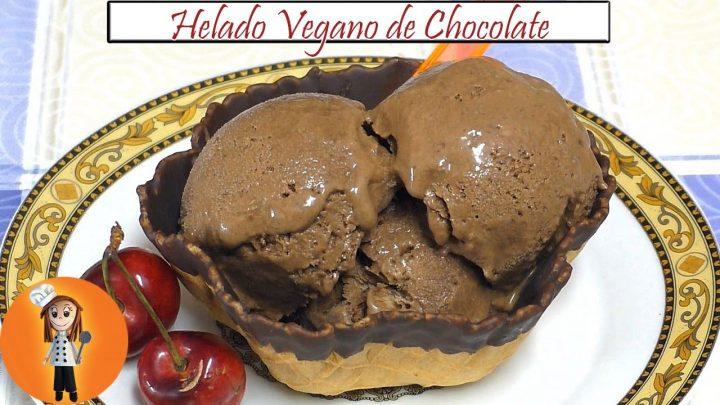 Helado Vegano de Chocolate | Receta de Cocina en Familia