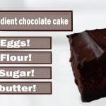 La Torta de Chocolate con dos ingredientes! #2ingredientes #recetas #cocina #niñoscocinando