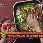La cocina de La Mañana: Churrasco al ajillo con arroz con queso  Mi receta de cocina