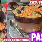 PASTEL CAZUELA DE ARROZ CON MARISCOS , Paella 3D / seafood casserole cake