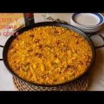 Paella de coliflor, bacalao y ajos tiernos Pako con K