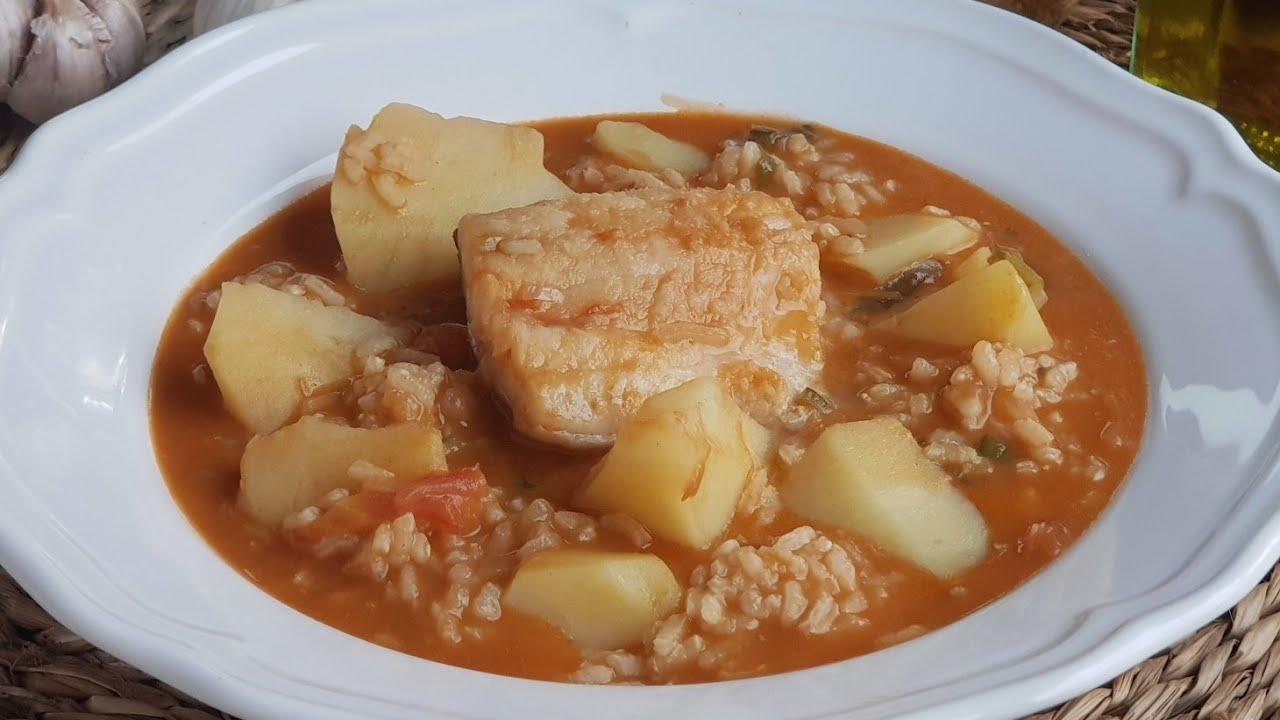 Patatas con arroz y bacalao ¡RECETA FACIL Y RAPIDA! En media hora