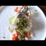 Pescado con ensalada de papaya y aguacate con vinagreta de orégano  Mi receta de cocina