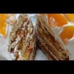 Postre para celiacos de merengue y duraznos sin gluten /sin tacc  Mi receta de cocina