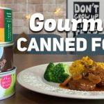 Probar alimentos enlatados japoneses |  Paella Hamburguesa y Cheesecake Matcha en lata