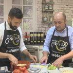 Quién cocina hoy?, Víctor Morán. Ajoblanco, Arroz con carabineros, Bizcocho de manzana y yogurt