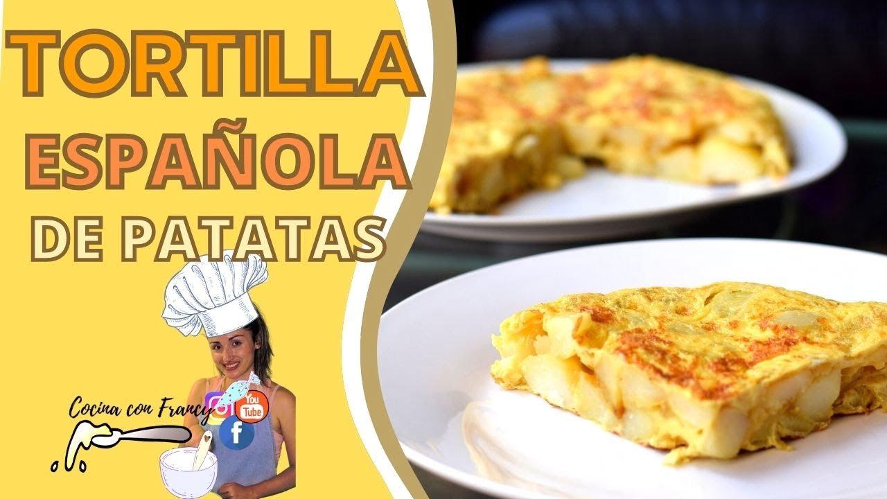 Receta  TORTILLA de PATATAS ESPAÑOLA  (omelette de papas) |Cocina con Francy