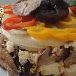Receta con champiñones - Champiñones con queso y verduras