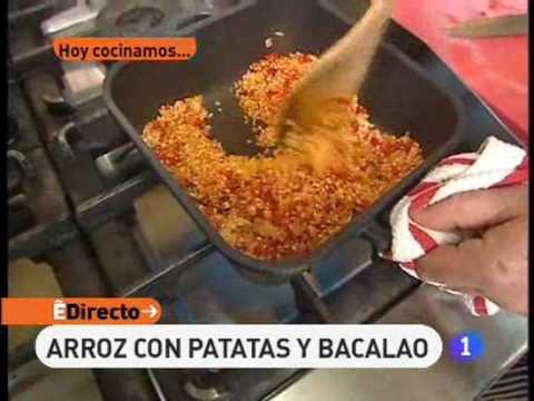 Receta de Arroz con patatas y bacalao   ED
