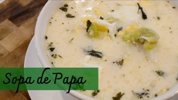 Sopa de Papa ∆ Cocina Peruana
