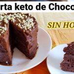 Tarta de Chocolate keto SIN HORNO   Pastel de chocolate keto   SIN GLUTEN   SIN AZÚCAR  Mi receta de cocina