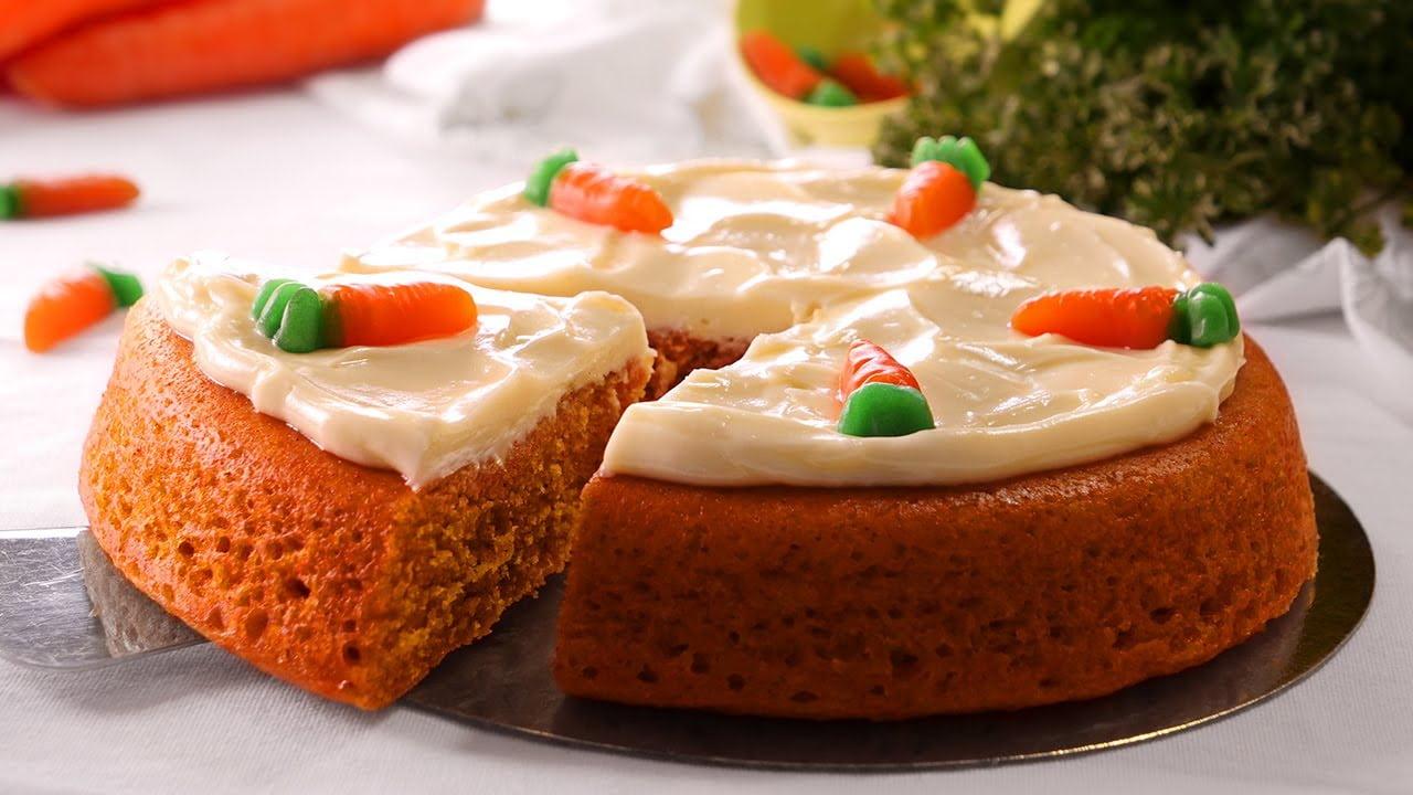 Tarta de Zanahoria en 10 Minutos Sin Horno