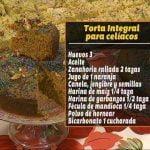 Torta integral para celíacos, la receta de Alba del Castillo en Bien De Córdoba  Mi receta de cocina
