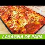 como hacer lasaña de PAPA con carne molida   receta FÁCIL de hacer #dtoito