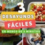 3 Desayunos en menos de 5 minutos Fáciles y Saludables ❤ Las Recetas de Laura