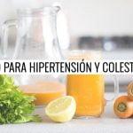 ✅ Jugo Para Ayudar a BAJAR LA PRESIÓN ARTERIAL ALTA y el COLESTEROL 🥕🍋 Remedios Caseros