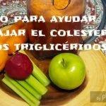 Jugo para reducir el colesterol y los triglicéridos