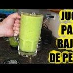 Jugo Verde (Receta Especial) para Bajar de Peso con Nopal, Piña, Pepino y Perejil