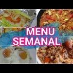 MENU SEMANAL || MEAL PREP || COCINA CONMIGO || RECETAS FACILES Y SALUDABLES