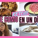 🥩 Que COMO en un DIA KETO para PERDER PESO 🥑RECETAS KETO 🥓  dieta CETOGENICA y AYUNO INTERMITENTE 🍓