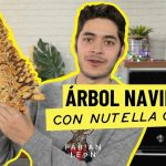 Árbol de Navidad con hojaldre y nutella casera | Receta navideña fácil