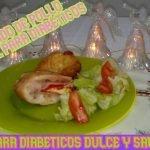 Arrollado de pollo individual navideño para diabéticos🎄cena paqueta 🎄  Mi receta de cocina