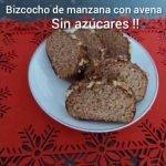BIZCOCHO DE MANZANA Y AVENA SIN AZÚCARES!!😋😋 Mi receta de cocina