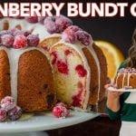 BUNDT CAKE de arándanos (pastel fácil de arándanos y naranja)  Mi receta de cocina