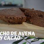 Bizcocho de avena y cacao   Receta en pocos minutos Mi receta de cocina