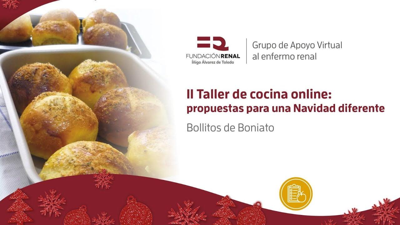 Bollitos de boniato Recetas para una Navidad diferente Taller de cocina online para enfermos renales
