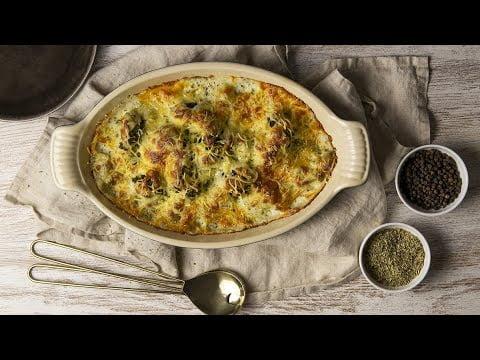 Brocoli con bechamel de roquefort | Recetas Robot de Cocina Mambo