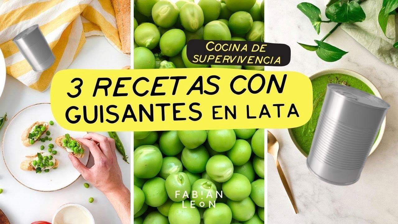 COCINA DE SUPERVIVENCIA | 3 recetas con UNA LATA de GUISANTES