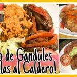 COMO HACER MORO DE GANDULES CON COSTILLAS! // ARROZ CON GANDULES Y COSTILLITAS AL CARDERO!