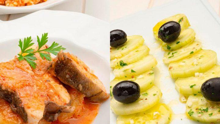 Caldero de gallo - Ensalada de pepino y aceitunas - Cocina Abierta de Karlos Arguiñano