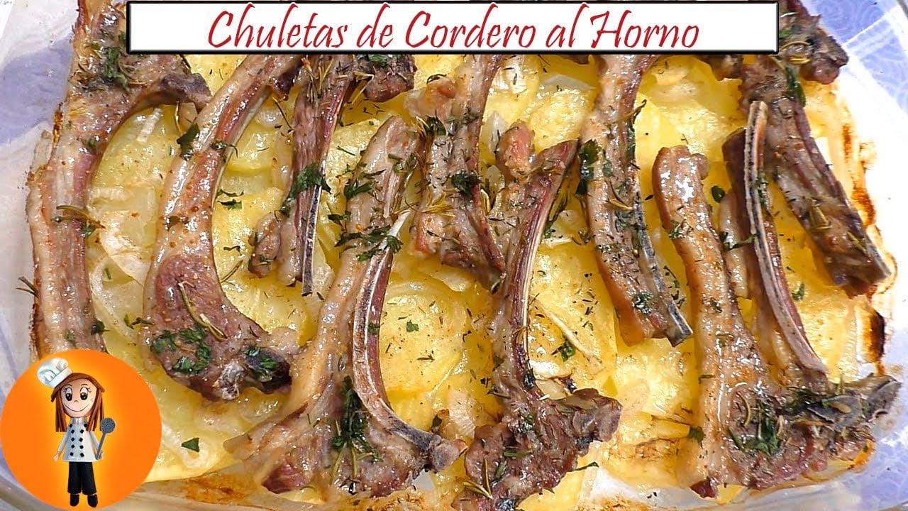 Chuletas de Cordero al Horno | Receta de Cocina en Familia