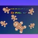 Como hacer una galleta de navidad en Pixel Art