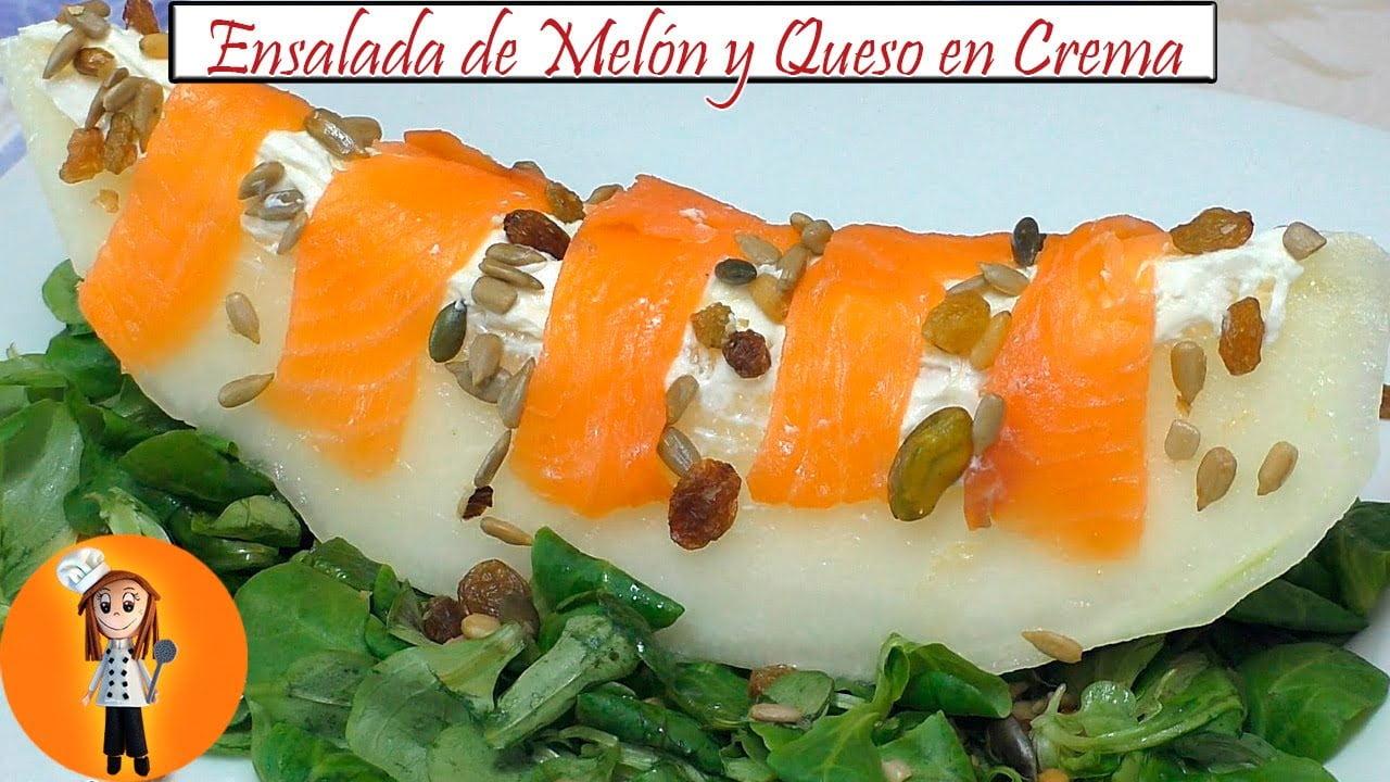 Ensalada de Melón y Queso en Crema | Receta de Cocina en Familia