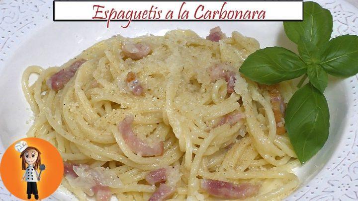 Espaguetis a la Carbonara con nata | Receta de Cocina en Familia