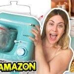 HAUL DE AMAZON PARA MI NUEVA COCINA | PROBANDO LA FAMOSA RECETA DE BROWNIE 🍫Lizy P Vlogs